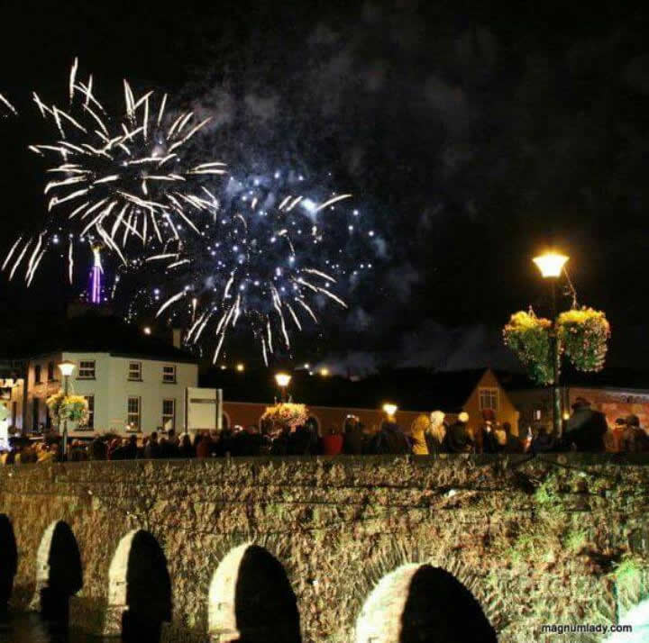 A spectacular fireworks display brought this years fleadh to a close.