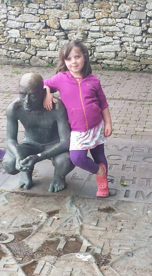 One of our youngest members, little miss Lucy taking time out at the fleadh to visit the grave of W.B Yeats whilst participating in the Yeats experience.