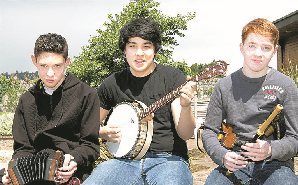Looking forward to competing in the Ulster Fleadh from left, Barry Rogan, Emmett McCartan and Luke Savage.