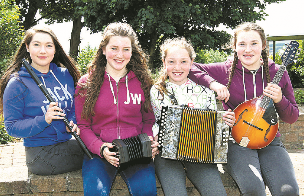 The Leckey sisters from Newcastle CCE, each through to the Ulster Fleadh in Bangor.